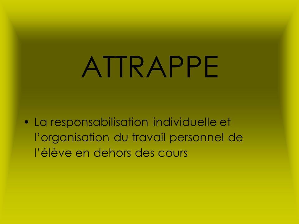 ATTRAPPE La responsabilisation individuelle et