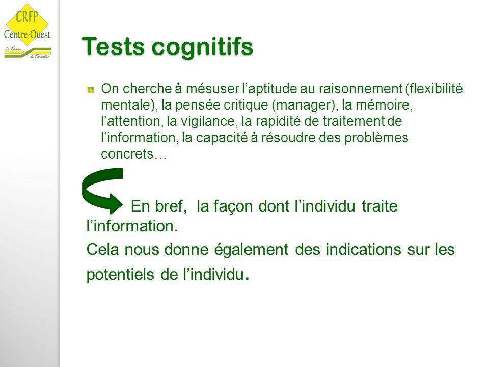 Tests cognitifs