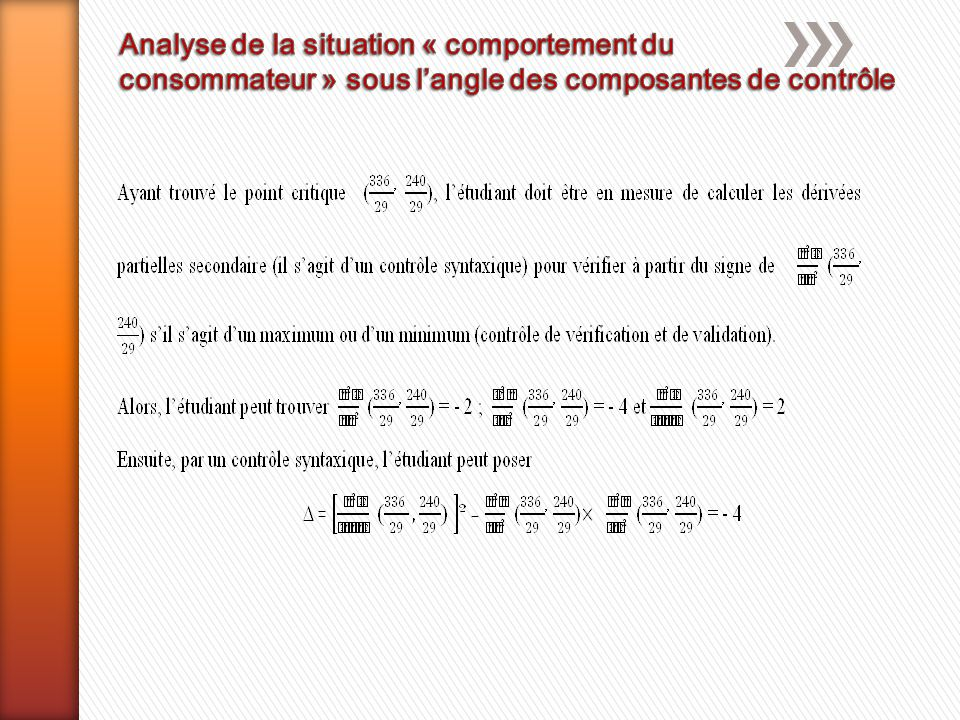 Analyse de la situation « comportement du
