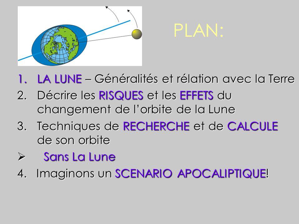 PLAN: LA LUNE – Généralités et rélation avec la Terre