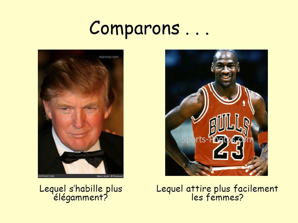 Comparons . . . Lequel s'habille plus élégamment