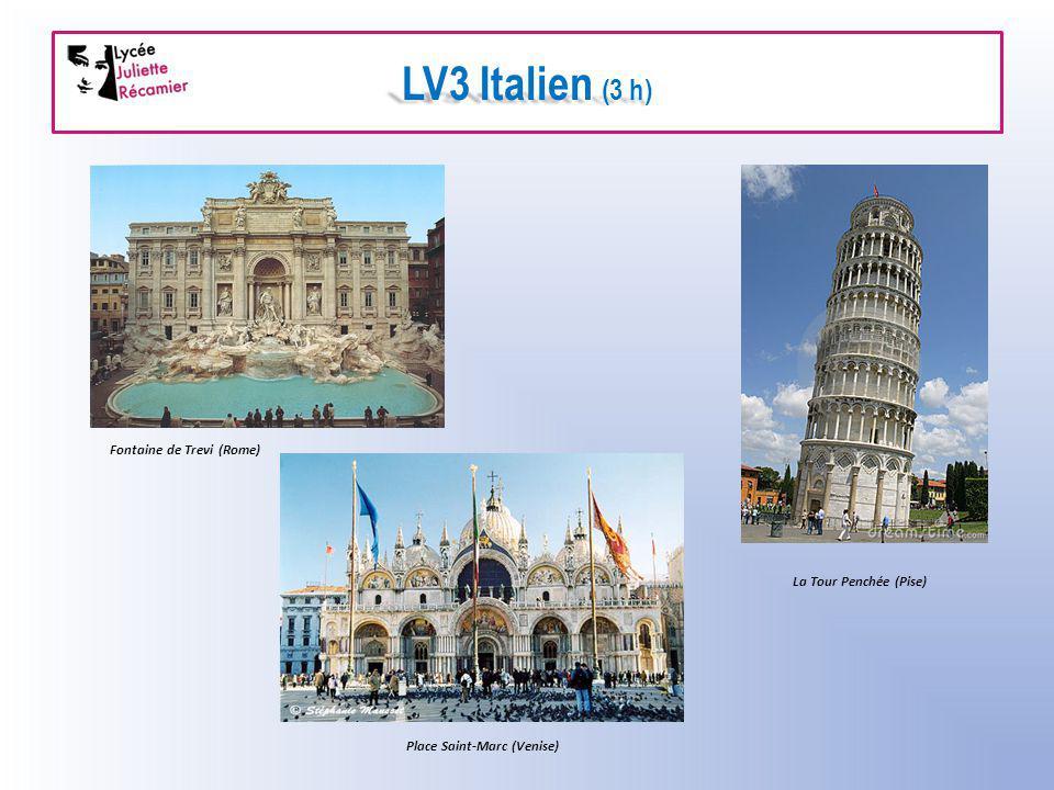 LV3 Italien (3 h) Fontaine de Trevi (Rome) La Tour Penchée (Pise)