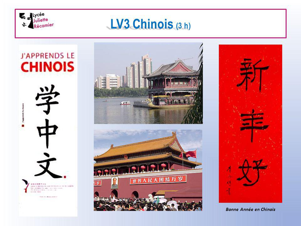 LV3 Chinois (3 h) Bonne Année en Chinois