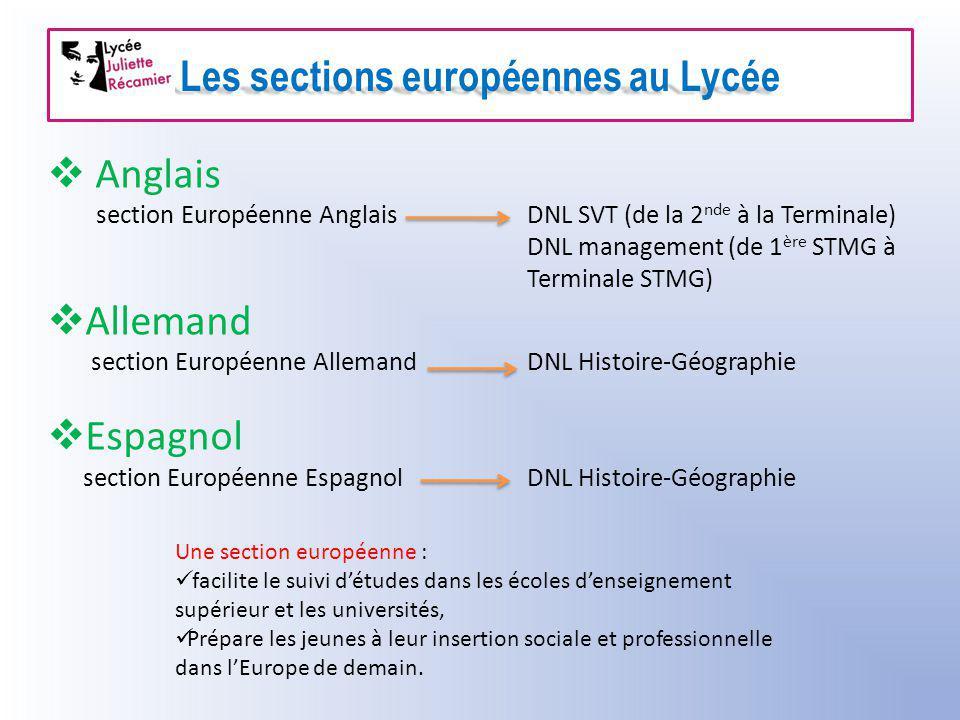Les sections européennes au Lycée