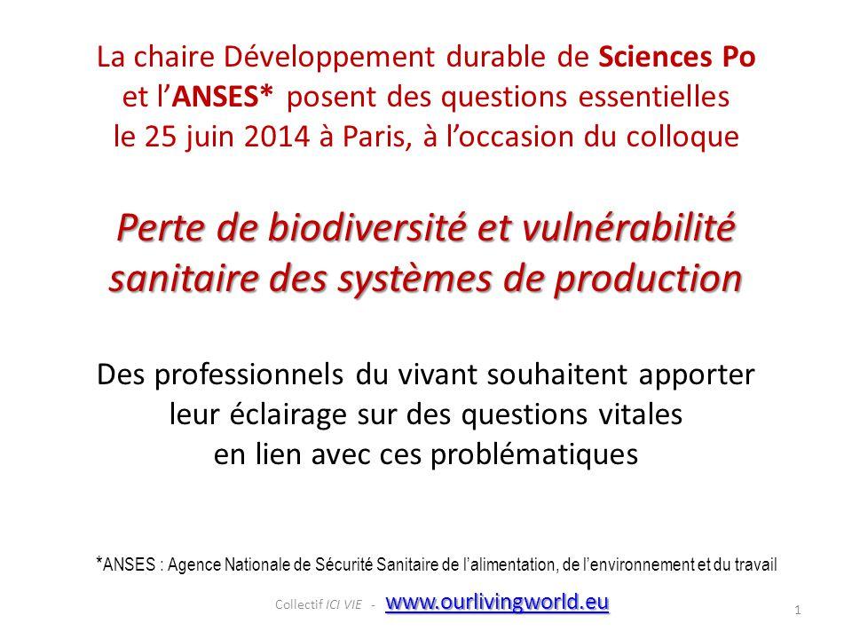 La chaire Développement durable de Sciences Po et l'ANSES