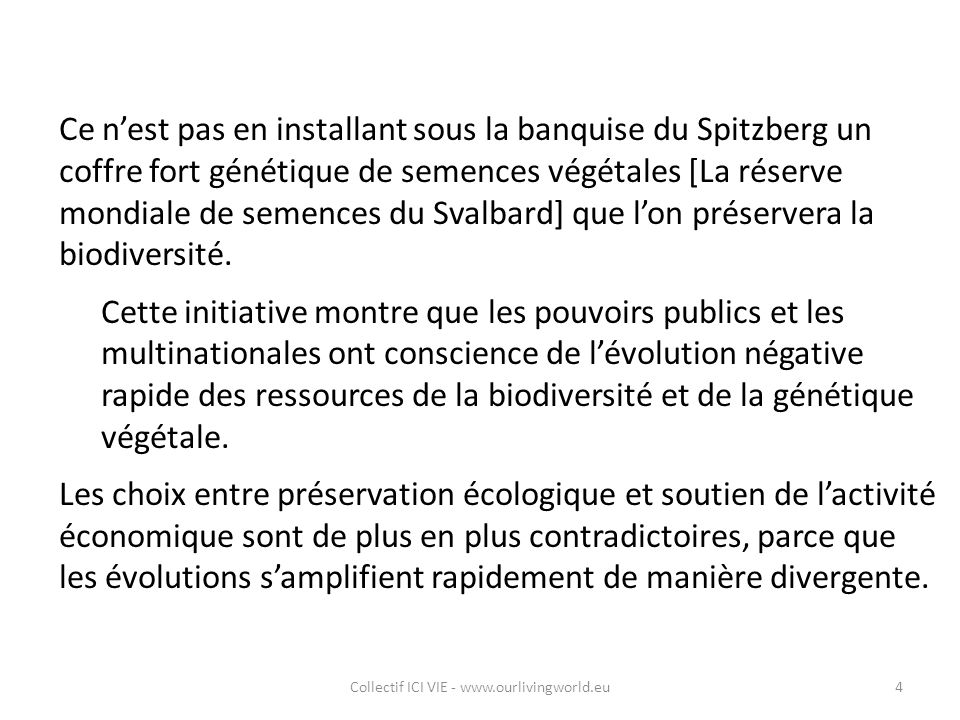 Collectif ICI VIE - www.ourlivingworld.eu