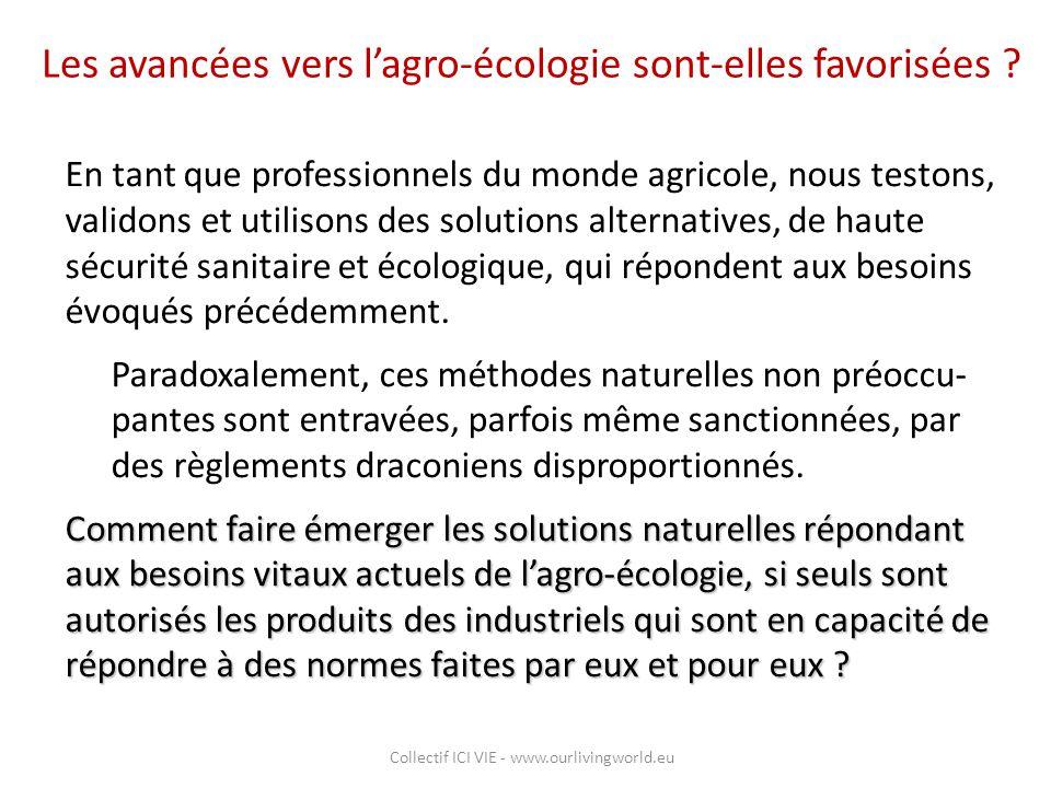 Les avancées vers l'agro-écologie sont-elles favorisées