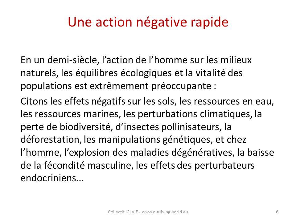 Une action négative rapide