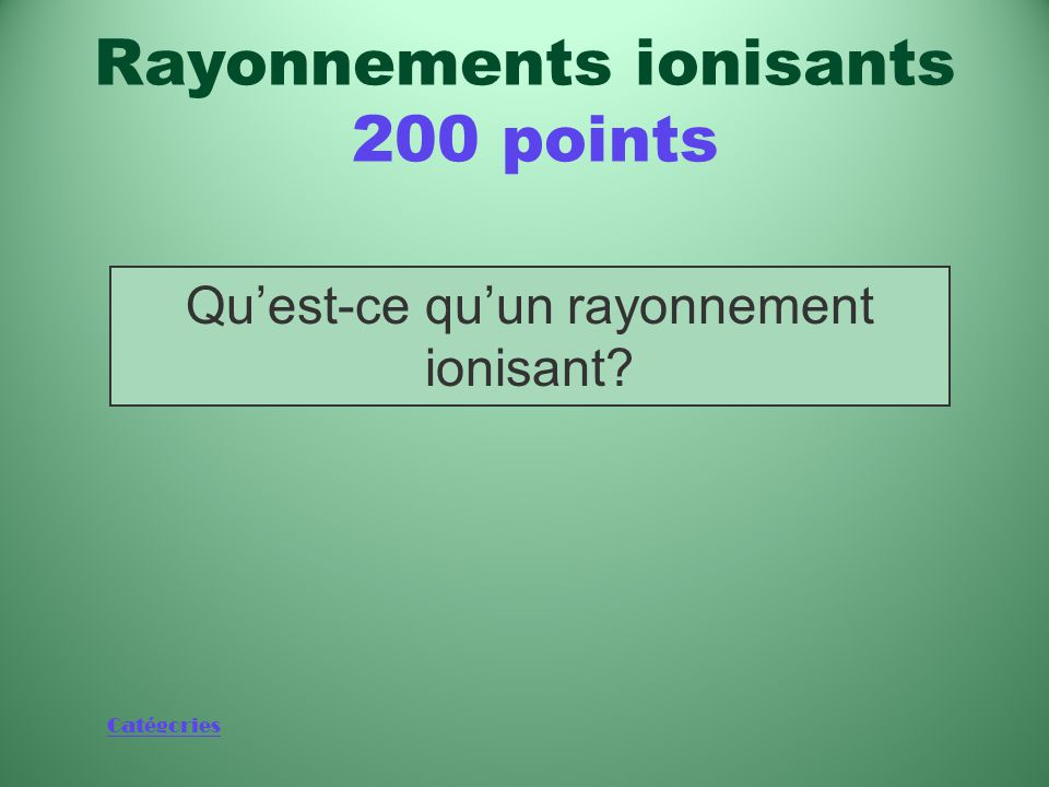 Rayonnements ionisants 200 points