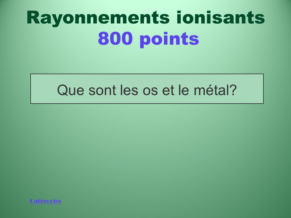 Rayonnements ionisants 800 points