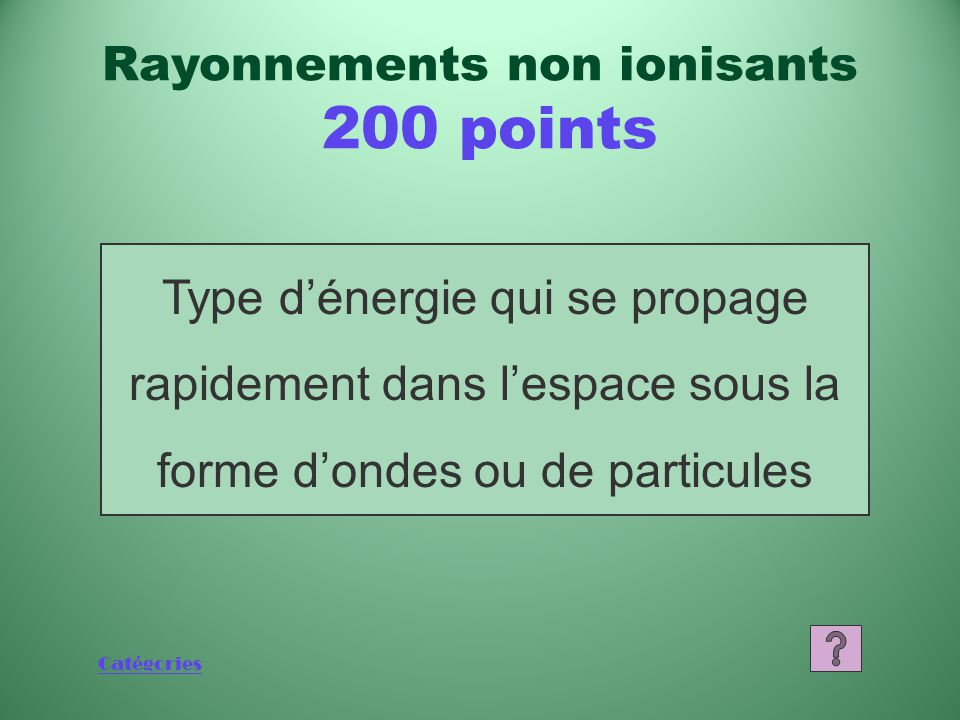 Rayonnements non ionisants 200 points