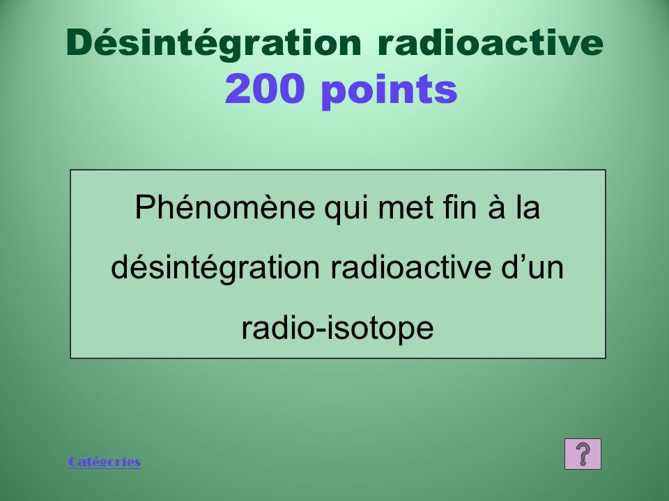 Désintégration radioactive 200 points