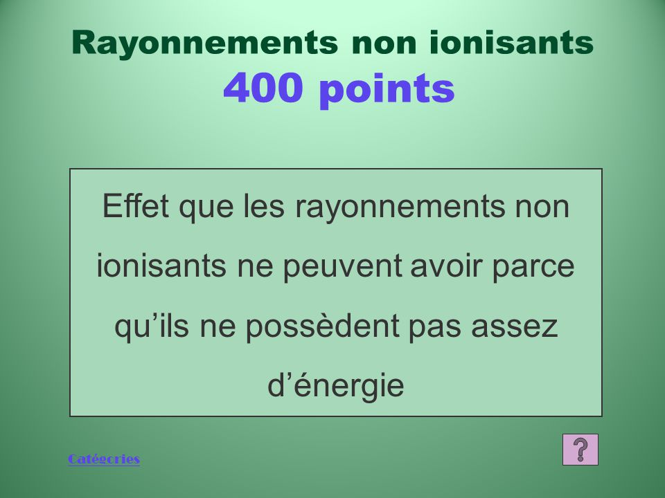 Rayonnements non ionisants 400 points