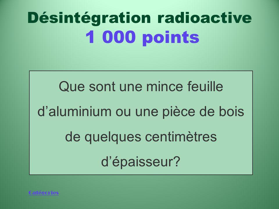 Désintégration radioactive 1 000 points