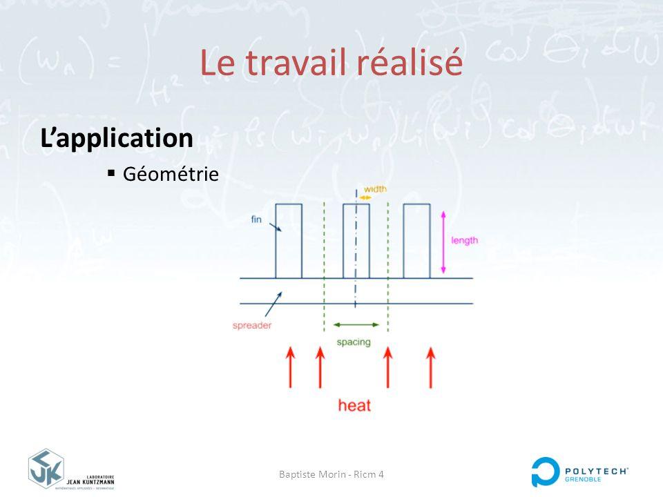 Le travail réalisé L'application Géométrie Baptiste Morin - Ricm 4
