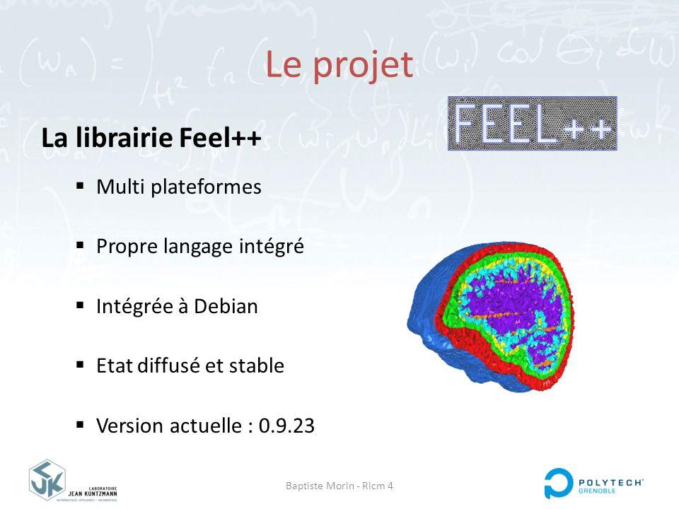 Le projet La librairie Feel++ Multi plateformes Propre langage intégré