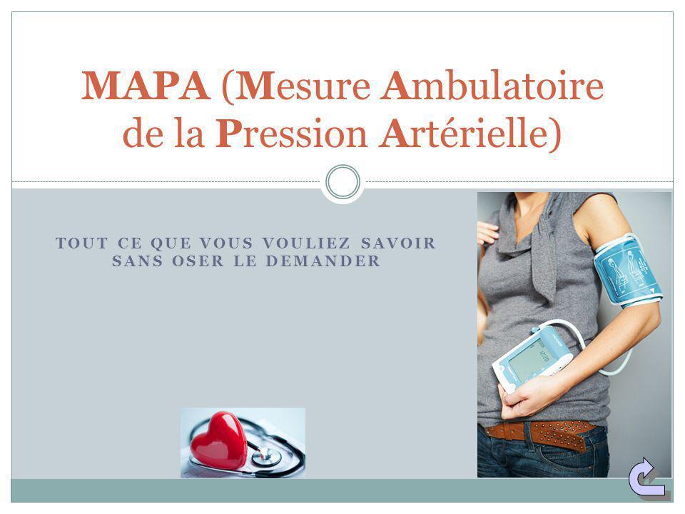 MAPA (Mesure Ambulatoire de la Pression Artérielle)