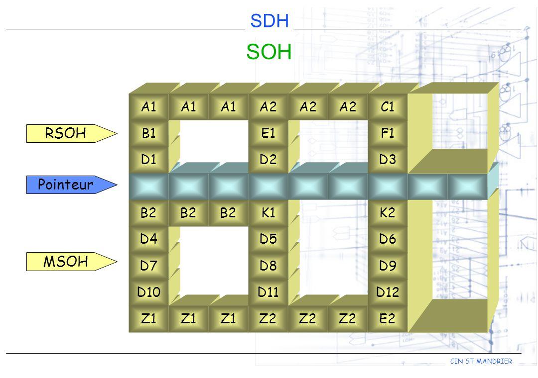 SOH RSOH Pointeur MSOH D1 B1 A1 A1 A1 D2 E1 A2 A2 A2 D3 F1 C1 Z1 D10