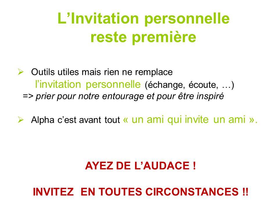 L'Invitation personnelle reste première