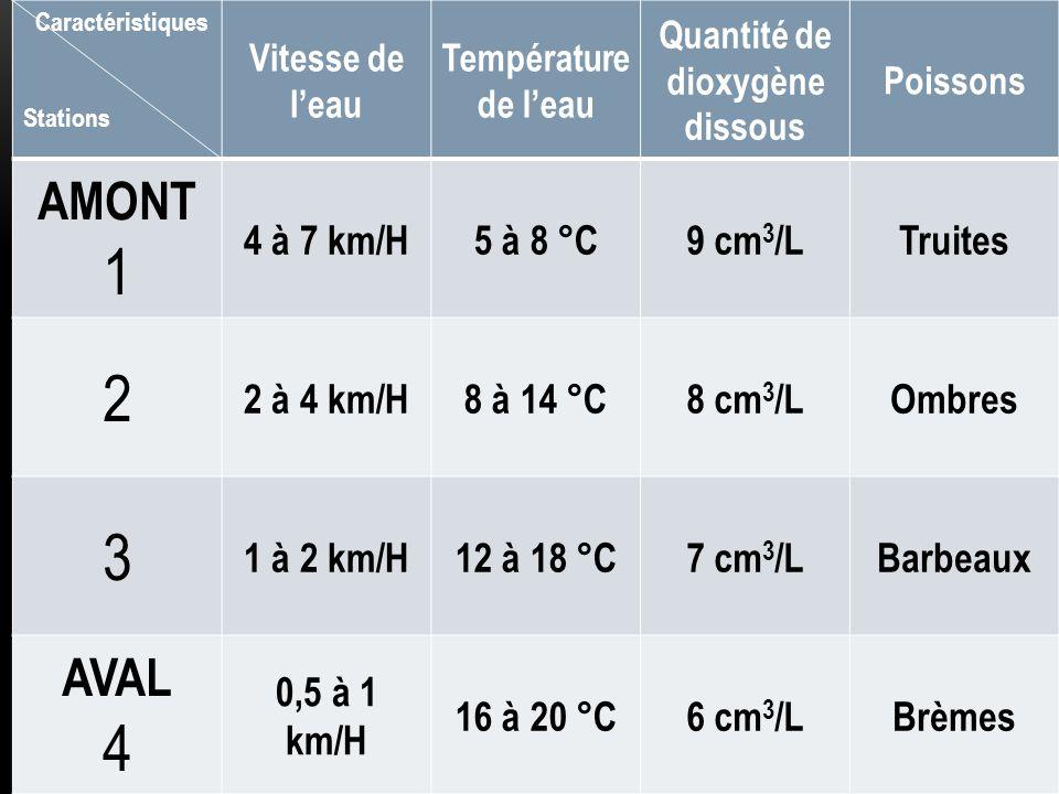 Quantité de dioxygène dissous