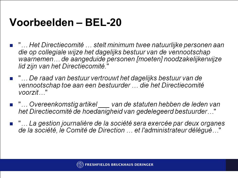 Voorbeelden – BEL-20