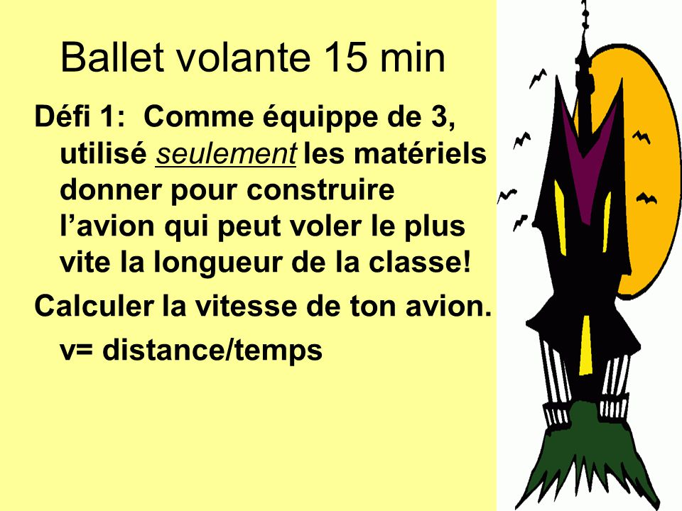 Ballet volante 15 min