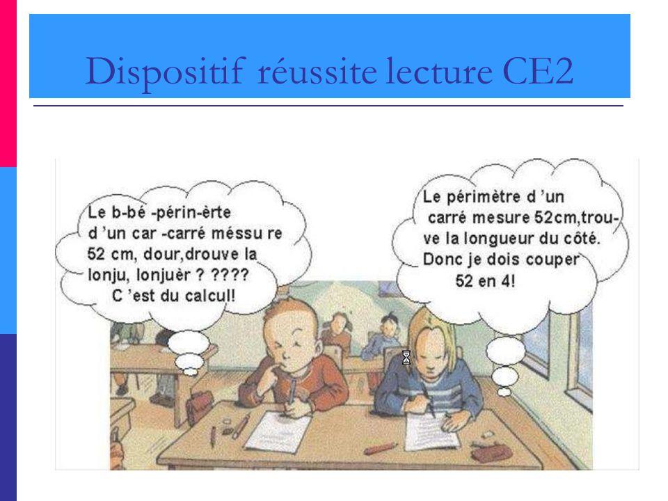 Dispositif réussite lecture CE2