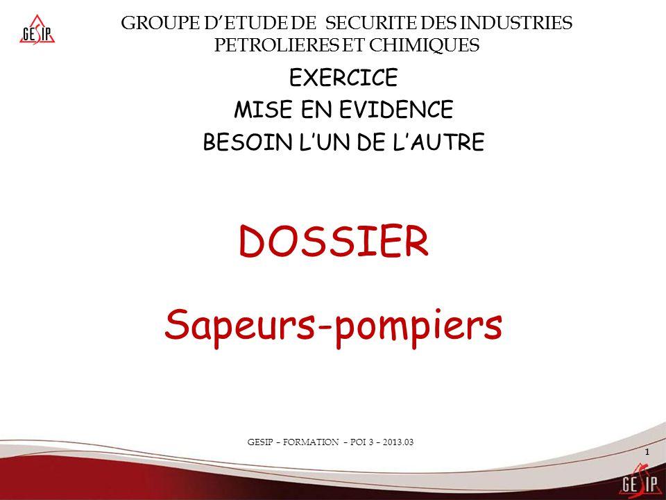 DOSSIER Sapeurs-pompiers EXERCICE MISE EN EVIDENCE