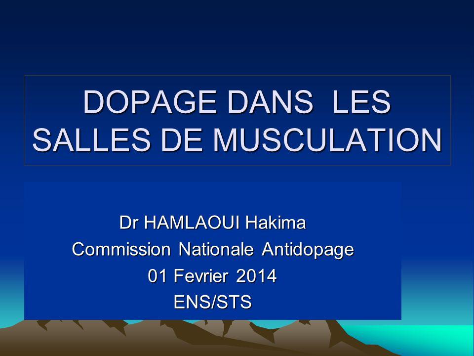 DOPAGE DANS LES SALLES DE MUSCULATION