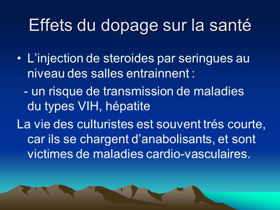 Effets du dopage sur la santé