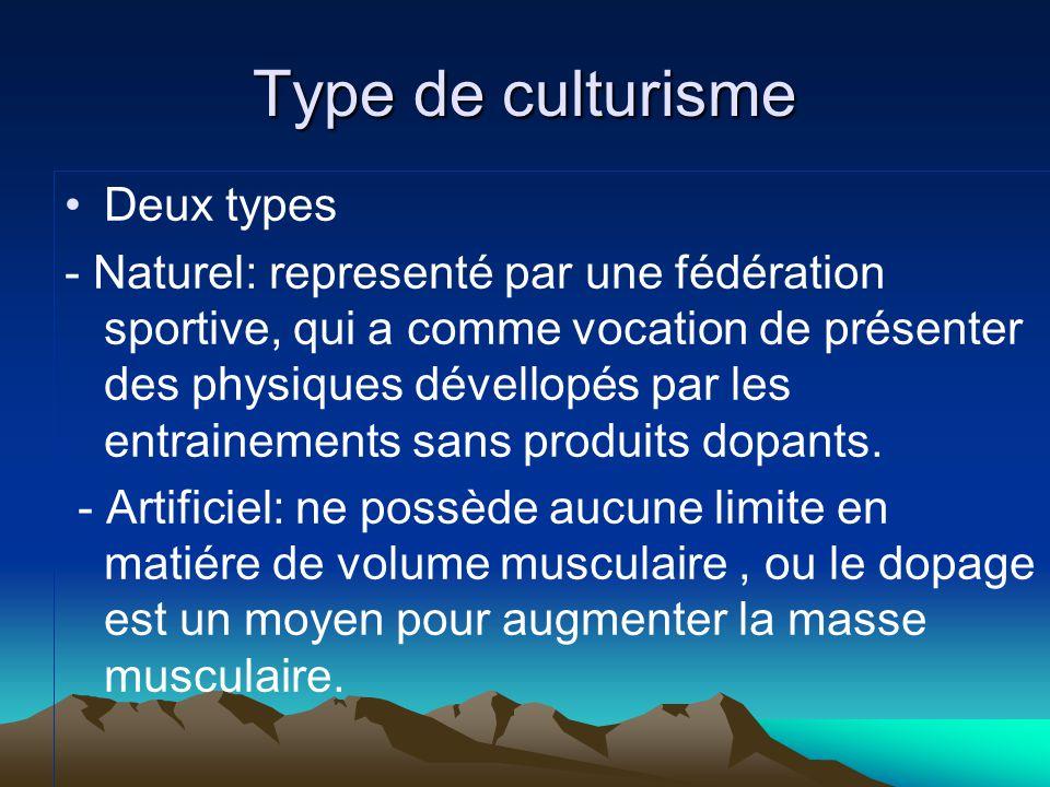 Type de culturisme Deux types