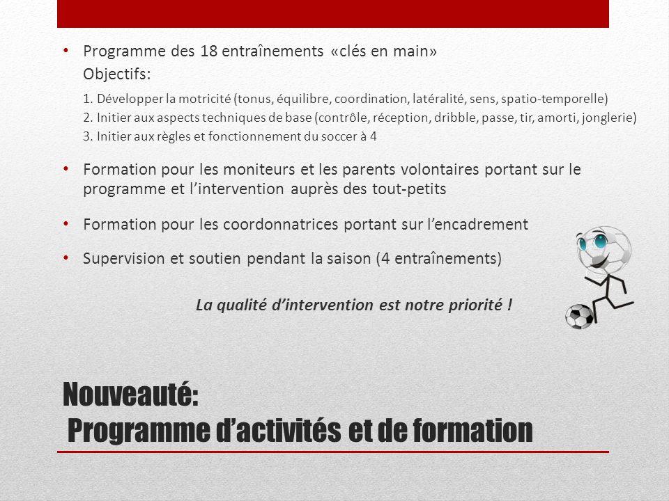 Nouveauté: Programme d'activités et de formation
