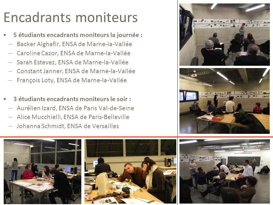 Encadrants moniteurs 5 étudiants encadrants moniteurs la journée :