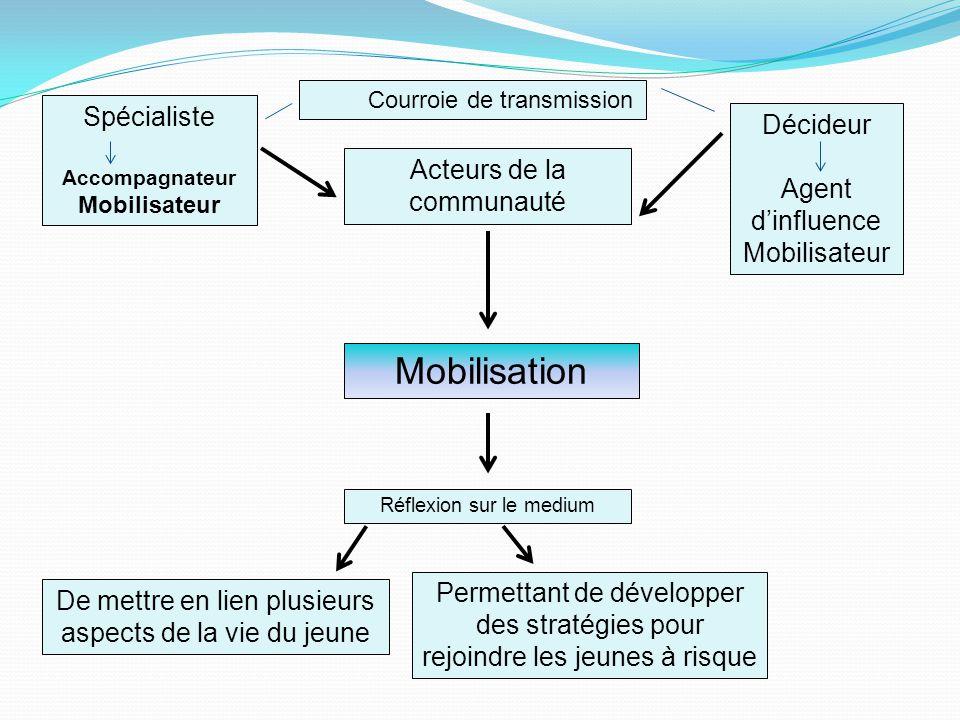 Mobilisation Spécialiste Décideur Agent d'influence