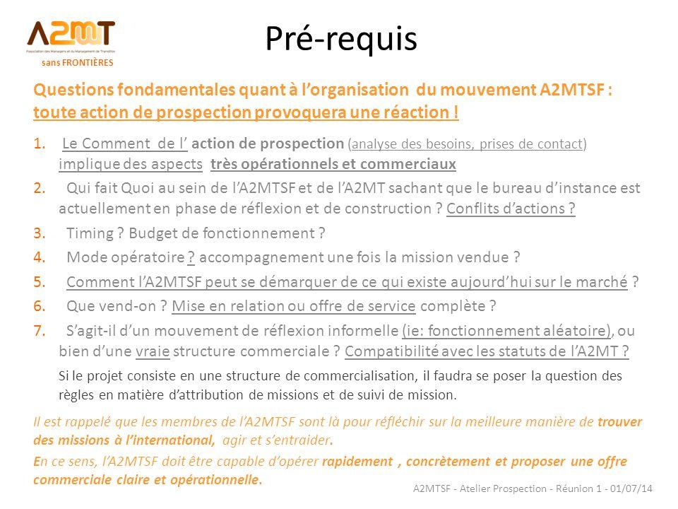 A2MTSF - Atelier Prospection - Réunion 1 - 01/07/14