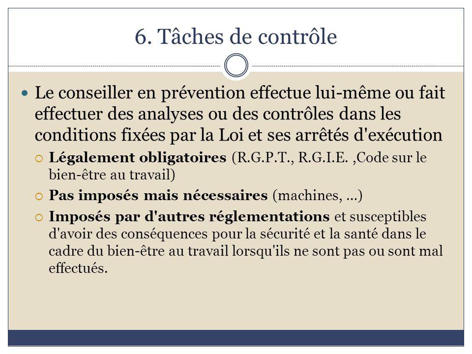 6. Tâches de contrôle