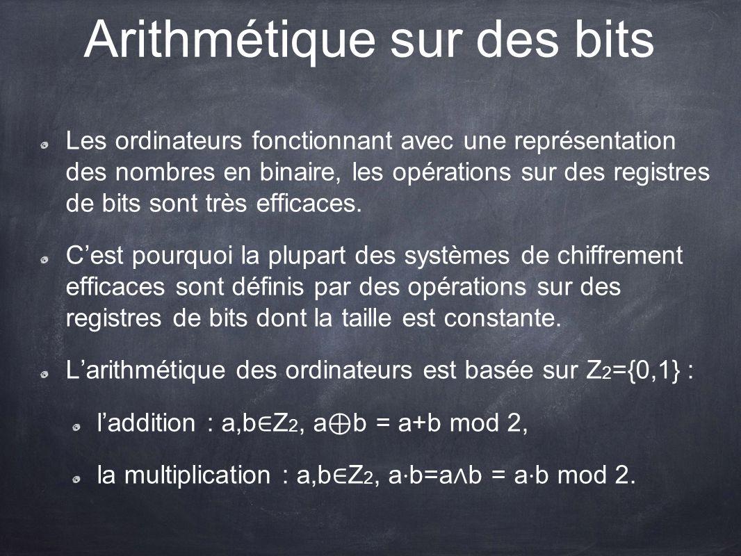 Arithmétique sur des bits