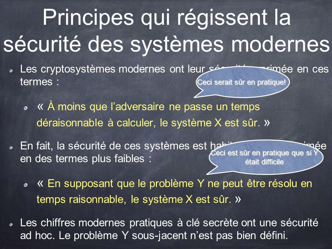 Principes qui régissent la sécurité des systèmes modernes