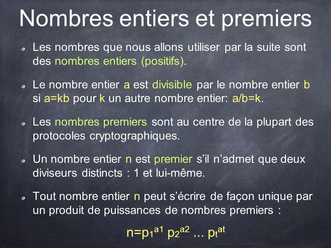 Nombres entiers et premiers