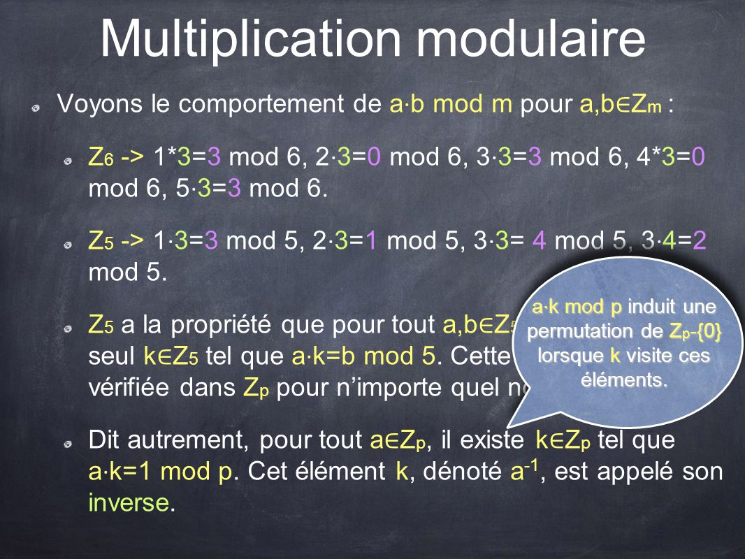 Multiplication modulaire