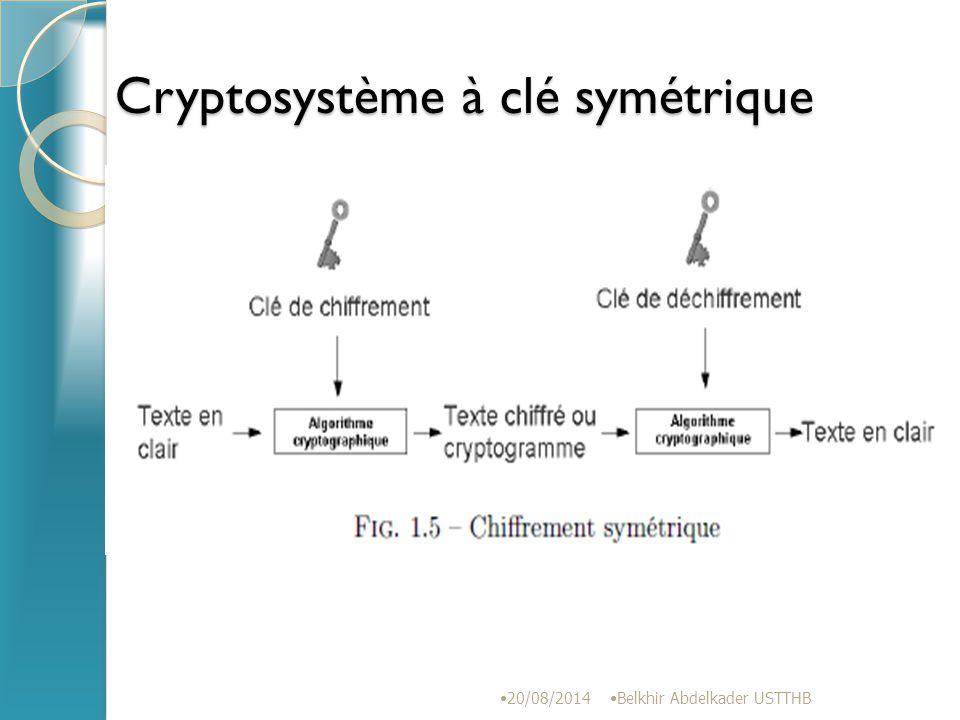 Cryptosystème à clé symétrique