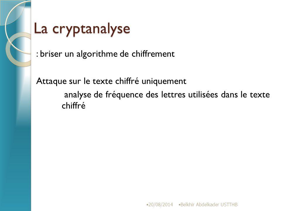 La cryptanalyse