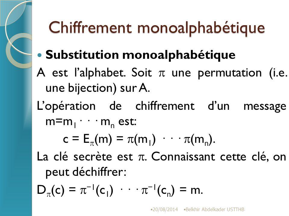 Chiffrement monoalphabétique