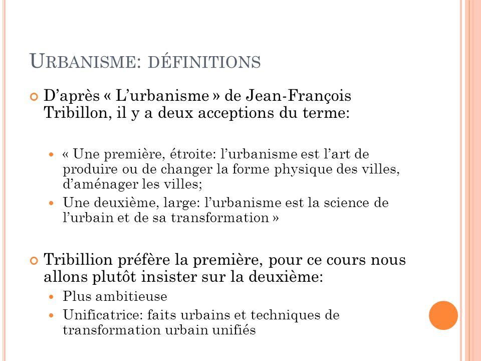 Urbanisme: définitions
