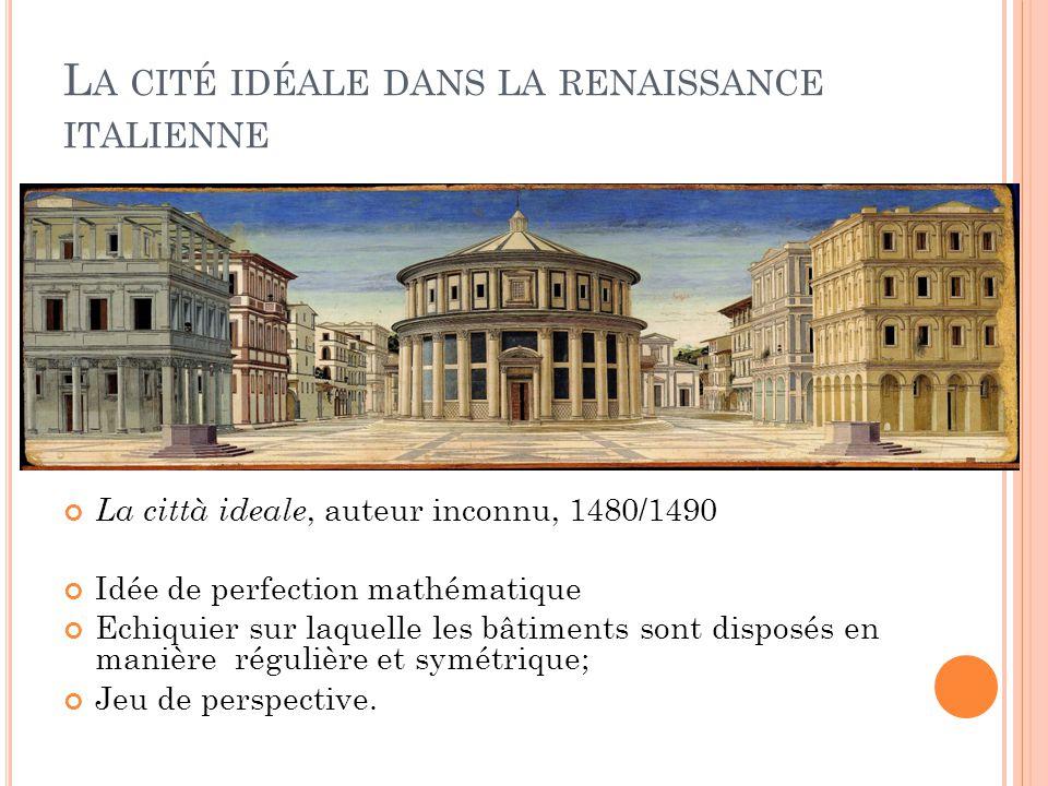 La cité idéale dans la renaissance italienne