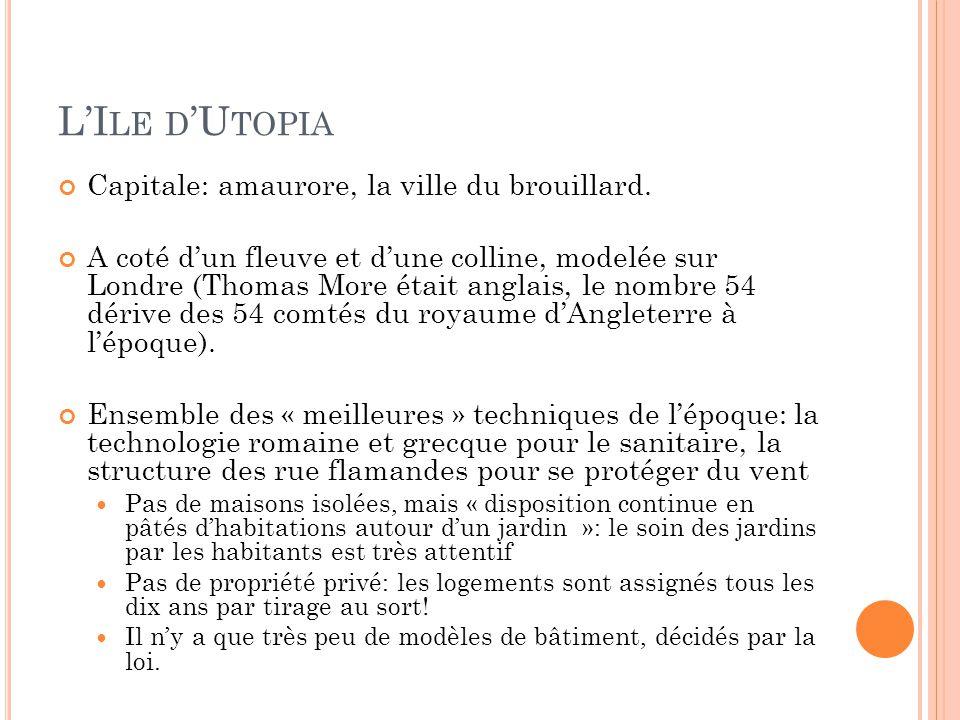 L'Ile d'Utopia Capitale: amaurore, la ville du brouillard.