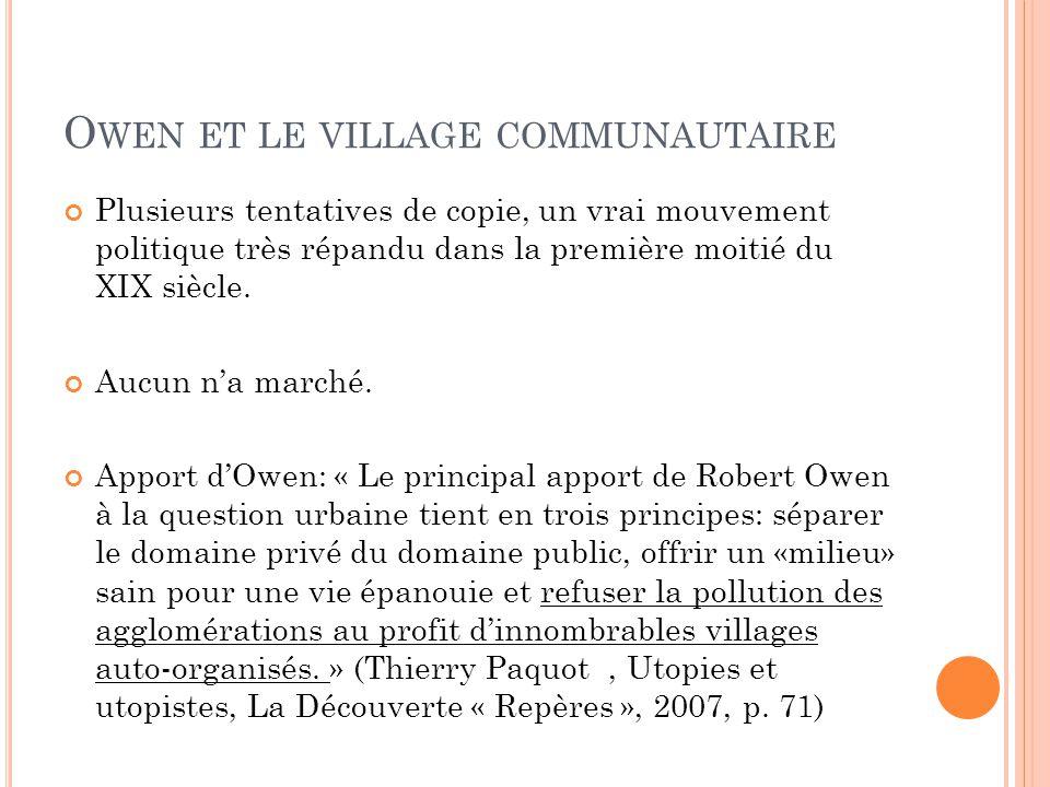 Owen et le village communautaire