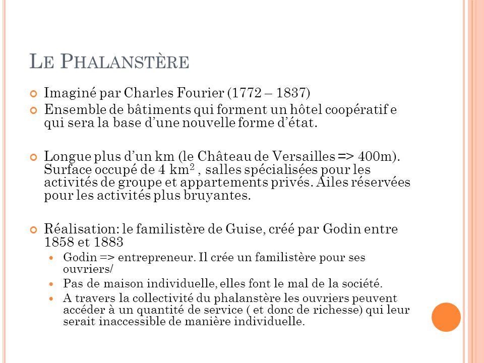 Le Phalanstère Imaginé par Charles Fourier (1772 – 1837)