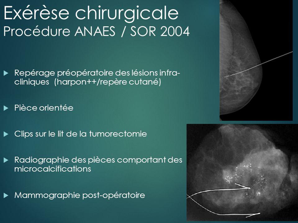 Exérèse chirurgicale Procédure ANAES / SOR 2004