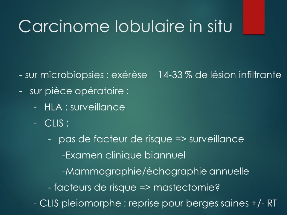 Carcinome lobulaire in situ